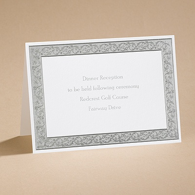 All That Shimmers - Silver Reception Card
