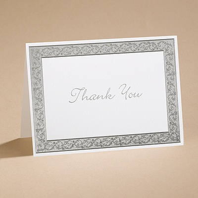 All That Shimmers - Silver Thank You Card and Envelope