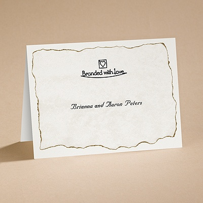 Branded with Love - Note Card and Envelope