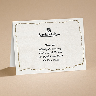 Branded with Love - Reception Card