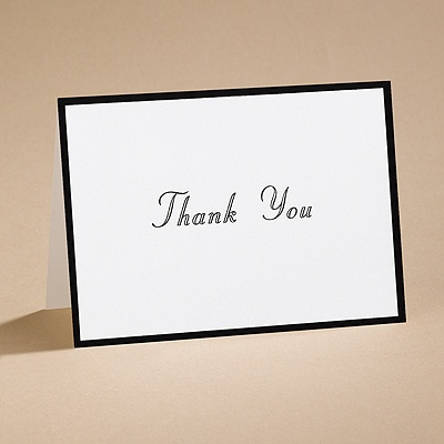 In Black And White - Thank You Card With Verse And Envelope
