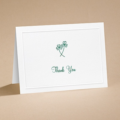 Lucky in Love - Thank You Card with Verse and Envelope