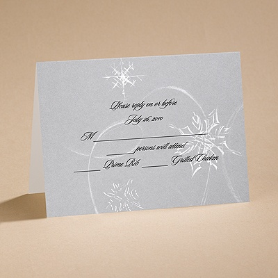 Silver Snowfall - Response Card and Envelope