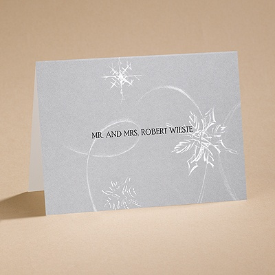Silver Snowfall - Informal Card and Envelope