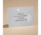 Silver Snowfall - Reception Card