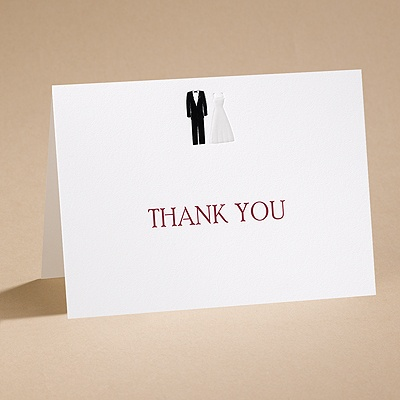 Bridal March - Thank You Card With Envelope