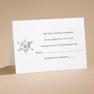 Prismatic Snowflake - Respond Card and Envelope