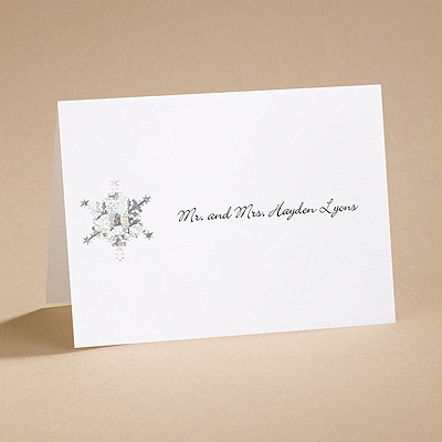 Prismatic Snowflake - Note Card and Envelope