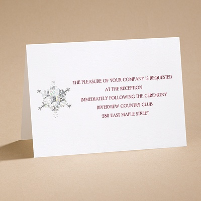 Prismatic Snowflake - Reception Card