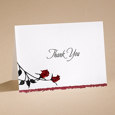 Striking - Thank You Card with Verse and Envelope