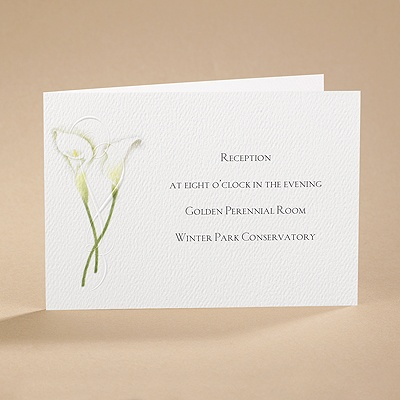 Calla Lily Connection - Reception Card