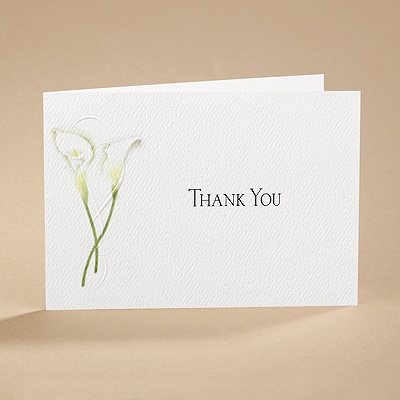 Calla Lily Connection - Thank You Card and Envelope