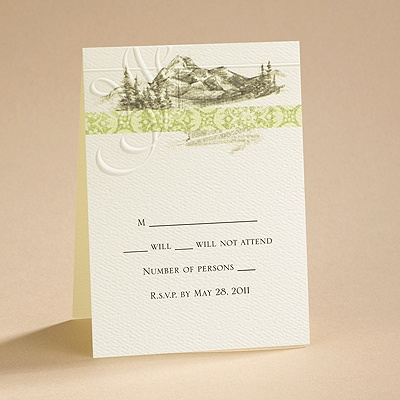 Majestic Mountains - Response Card and Envelope