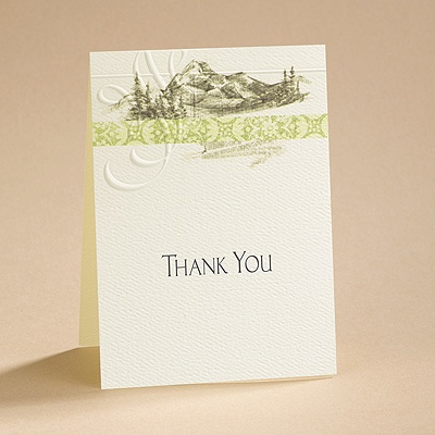 Majestic Mountains - Thank You Card and Envelope