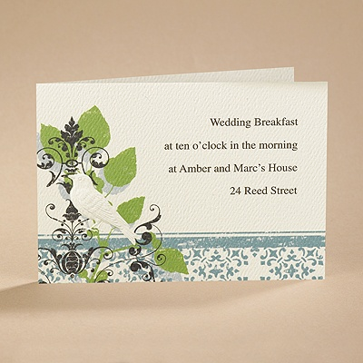 Vintage Perch - Reception Card