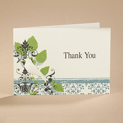 Vintage Perch - Thank You Card and Envelope