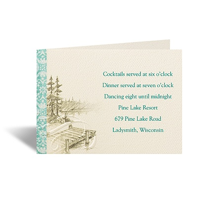 Off the Dock - Reception Card