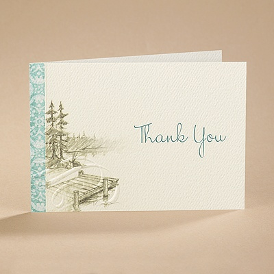 Off the Dock - Thank You Card with Verse and Envelope