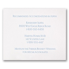 White Accommodations Card - Horizontal