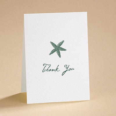 Simply Stated - White - Thank You Card and Envelope
