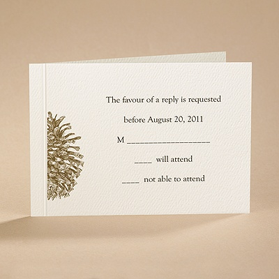 Pining Over You - Respond Card and Envelope