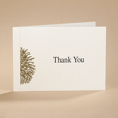 Pining Over You - Thank You Card with Verse and Envelope