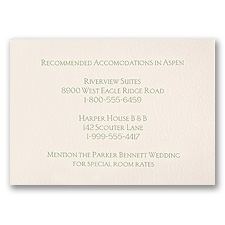 Ecru Accommodations Card - Horizontal