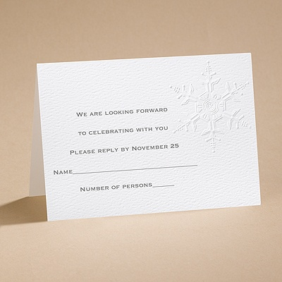 Winter's Elegance - Respond Card and Envelope