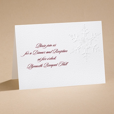 Winter's Elegance - Reception Card