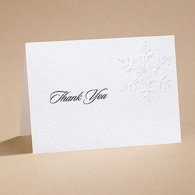Winter's Elegance - Thank You Card with Verse and Envelope