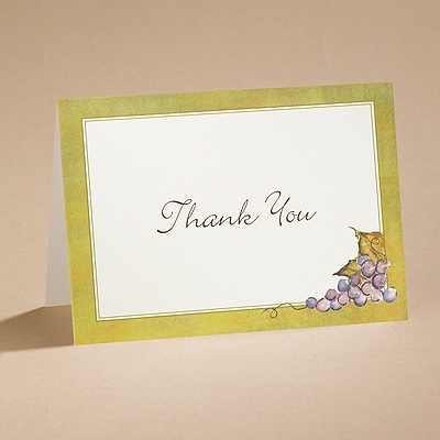 In the Vineyard - Thank You Card and Envelope