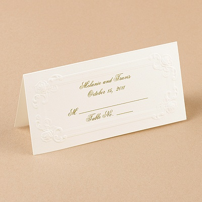 White Victorian Place Cards
