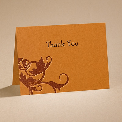Pumpkin Passion - Thank You Card with Verse and Envelope