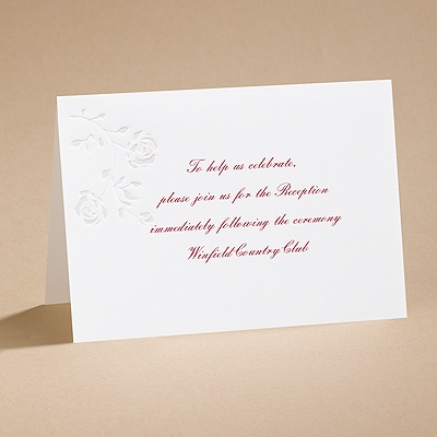 Rings and Roses - Reception card