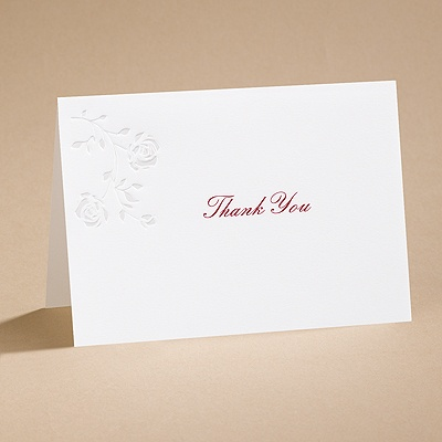 Rings and Roses - Thank You Card (printed) and Envelope