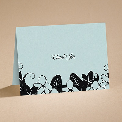 Light and Shadows - Thank You Note - Blank Inside