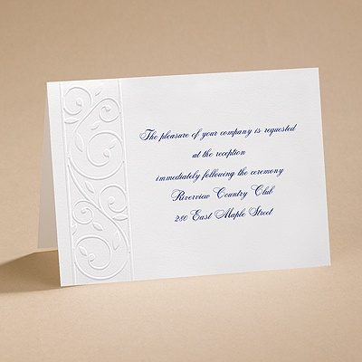 Romantic Swirls - Reception card