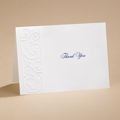 Romantic Swirls - Thank You Card (blank) and Envelope