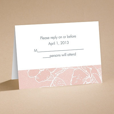 Pink Petals - Response Card and Envelope