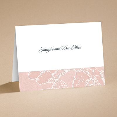 Pink Petals - Note Card and Envelope