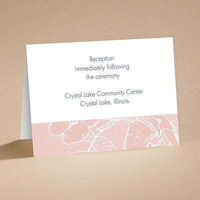 Pink Petals - Reception Card