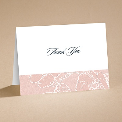 Pink Petals - Thank You Card and Envelope
