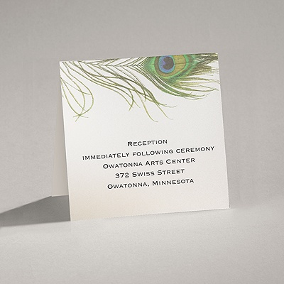 Petite Peacock Feather - Reception Card