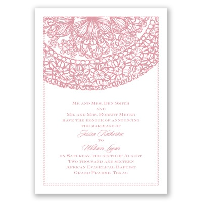 Lacy Accent - Invitation