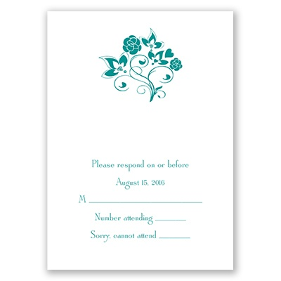 Charming Floral - Response Card and Envelope