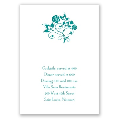 Charming Floral - Reception Card