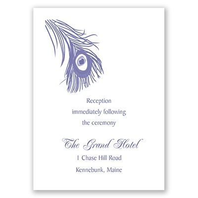 Peacock Plume - Reception Card