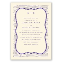 Wood Grain Placard - Ecru - Invitation