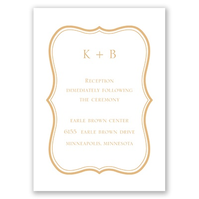 Wood Grain Placard - Reception Card