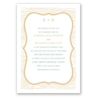 Wood Grain Placard - Invitation